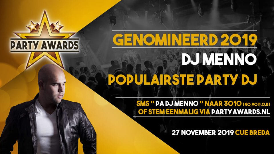 Dj menno nominatie partyawards 2019